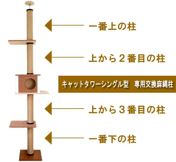 キャットタワー 麻縄柱(ポール)専用交換